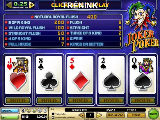 Zadarmo hrat automatove hry joker poker
