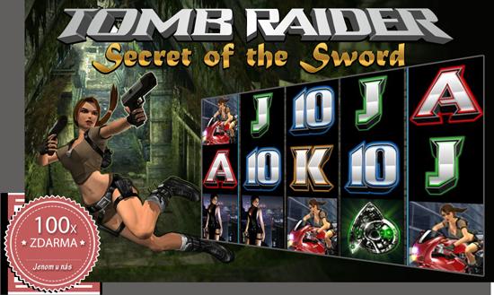 100 spinů ZDARMA na automatu Tomb Raider!