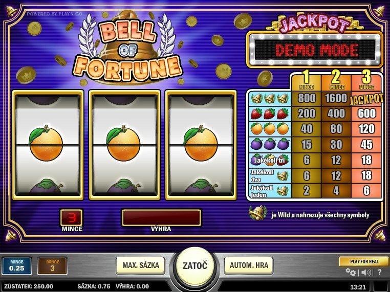 Bell of Fortune - recenze automatu