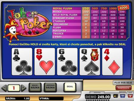 Úspěšná strategie pro video poker
