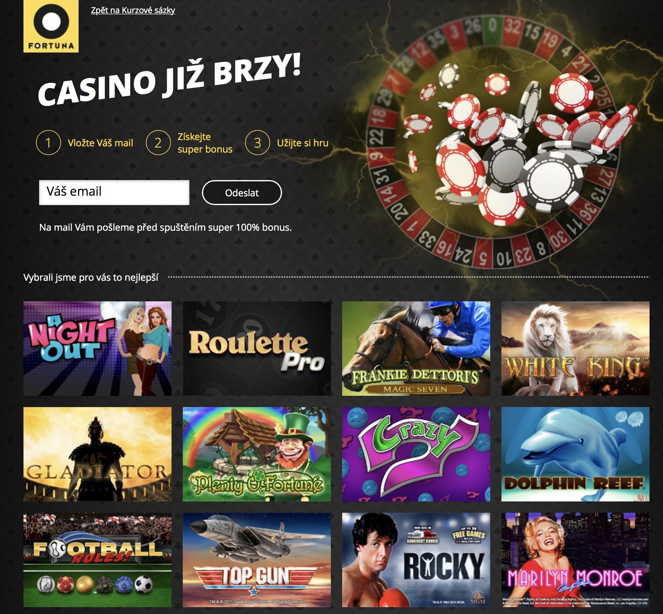 Casino fortuna s CZ licenci