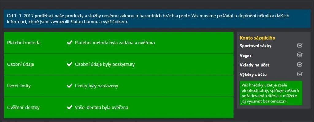 Ověření totožnosti u online casina Fortuna