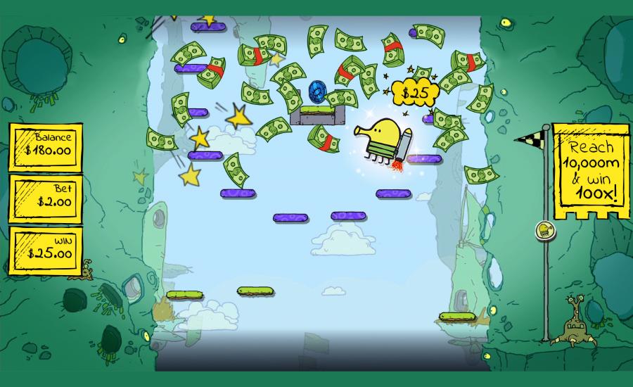 Mobilní hit Doodle Jump si brzy zahrajete i v online casinech