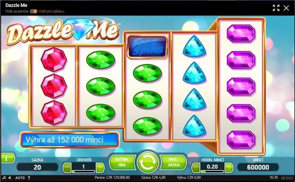 Dazlle Me je pětiválcový výherní automat od společnosti NetEnt, který přichází s tzv. asymetrickými válci.