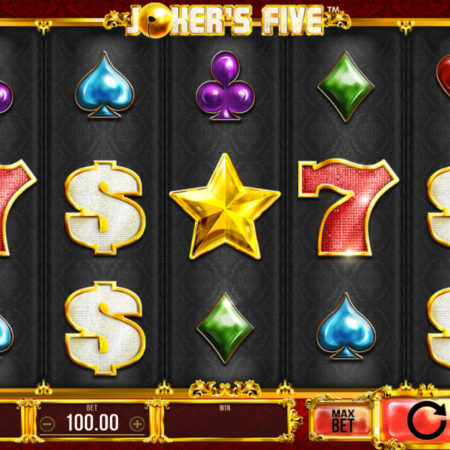 500 her zdarma na automatu Joker's Five od Synot Games