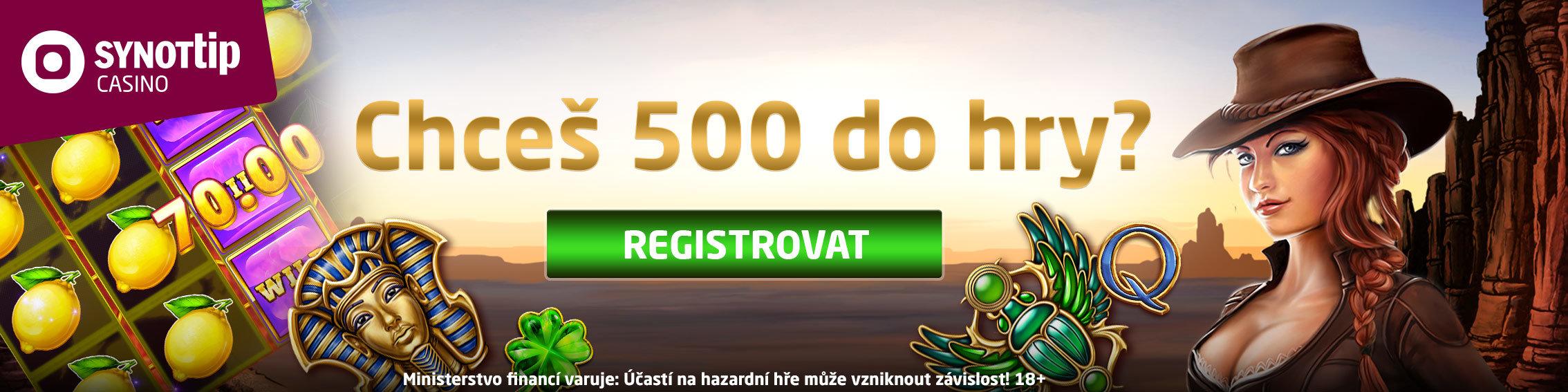 500 Kč zdarma bez vkladu