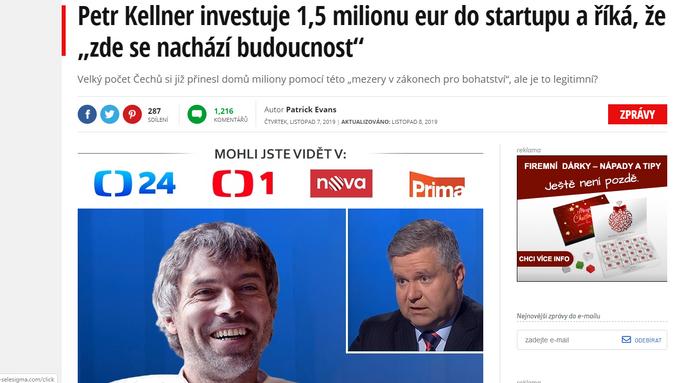 Petr Kellner vám (ne)poradí jak zbohatnout! Nabídka, která zaplavila internet, je SCAM!