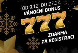 Vánoční bonus zdarma 777,-