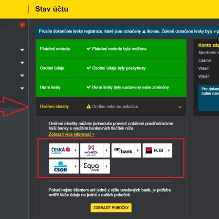 Registraci v casinu od Fortuny dokončíte z domova online přes internet banku