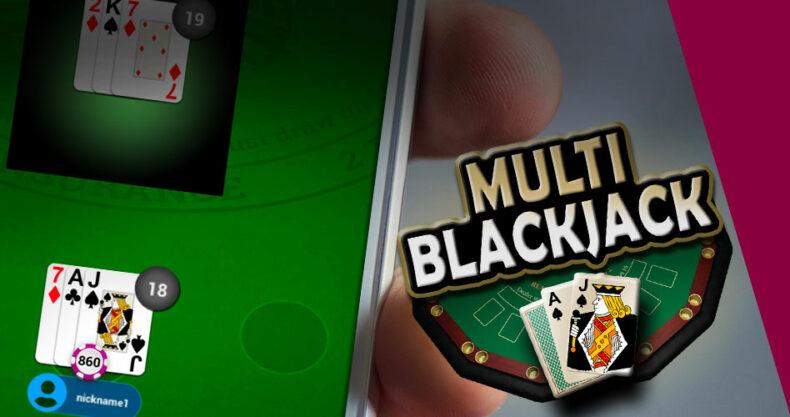 Multiblackjack můžeš hrát i na mobilu
