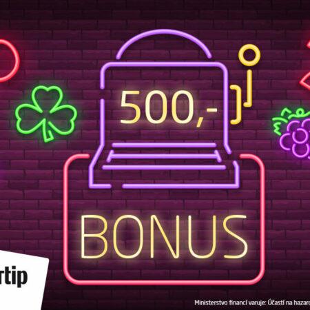 Získej 500,- zdarma a bez vkladu na automaty v casinu SYNOTtip